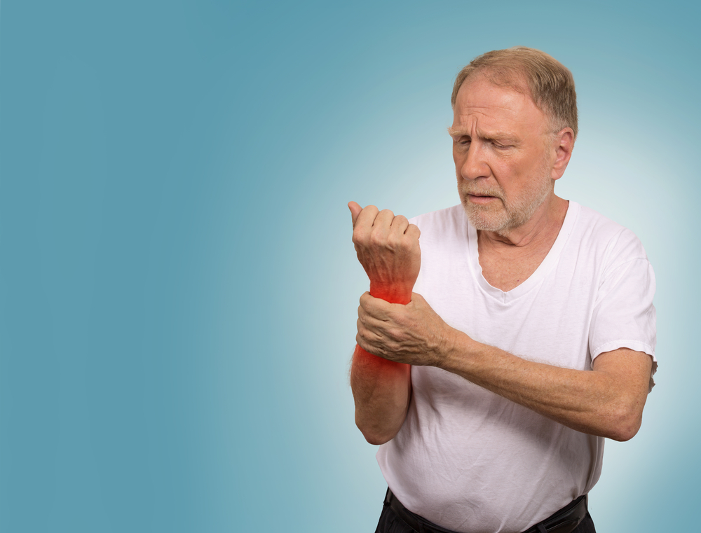 man with degenerative arthritis