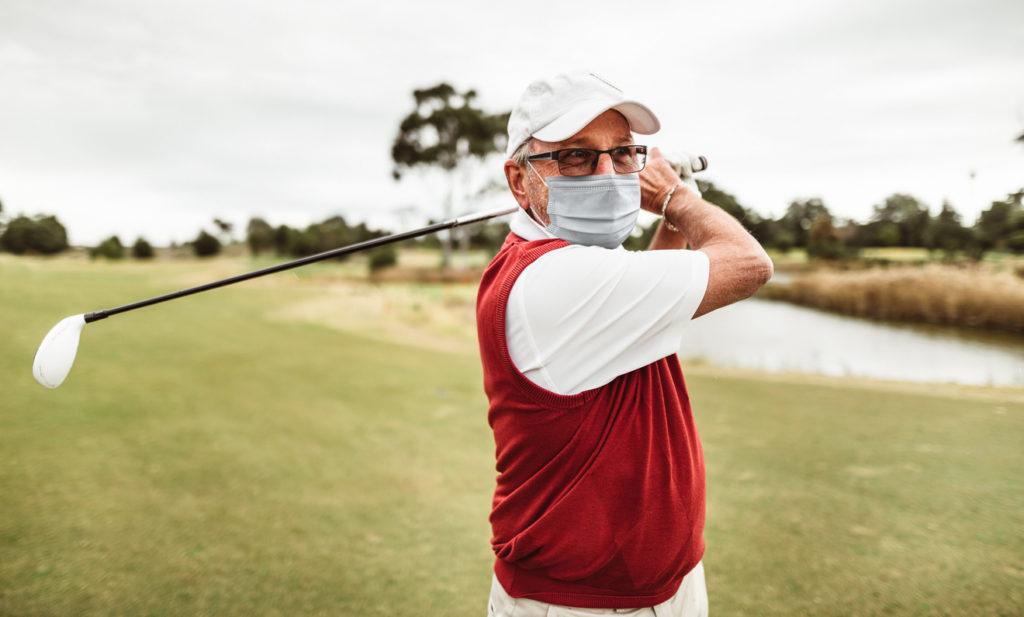 golfer's shoulder man playing golf
