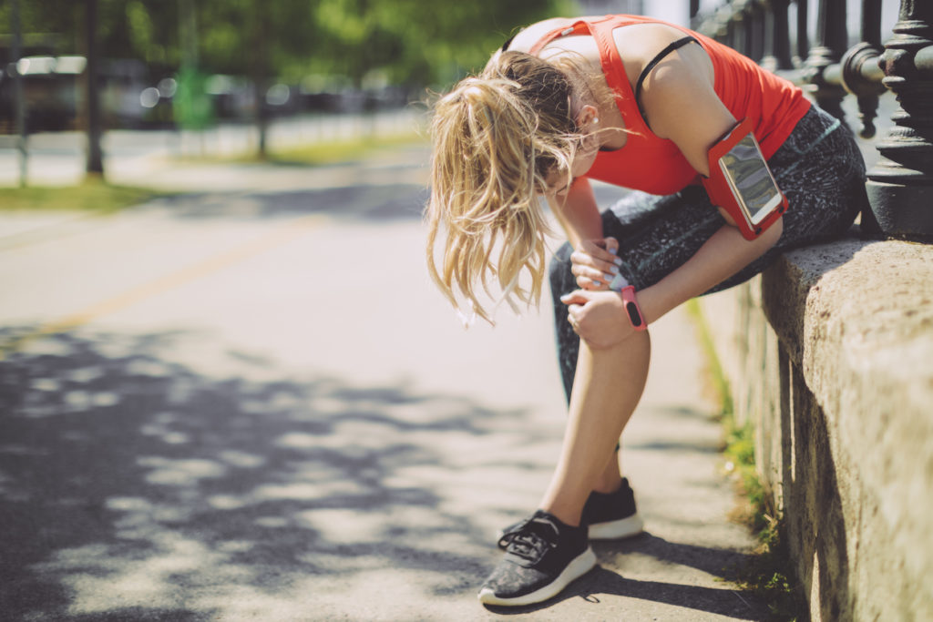 sports-related injury in woman