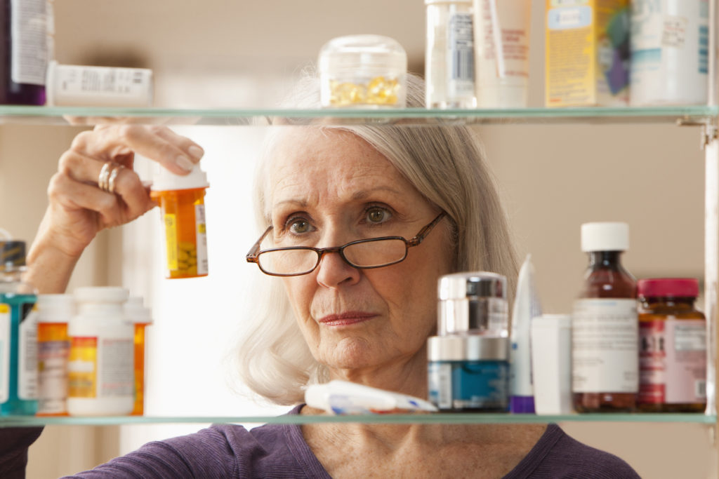 woman with chronic pain medication