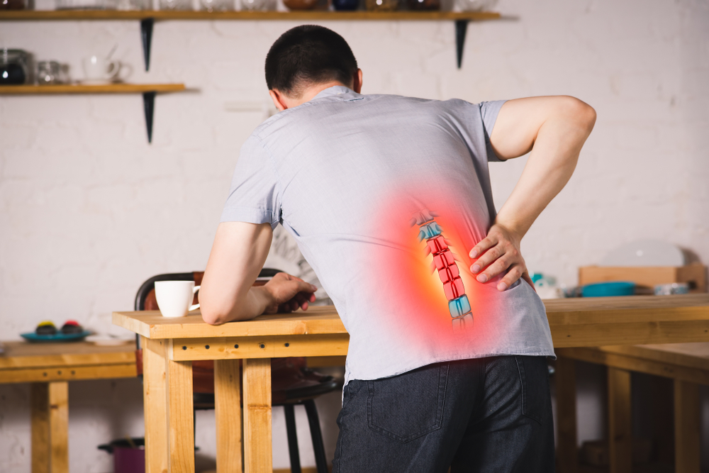 man with herniated discs