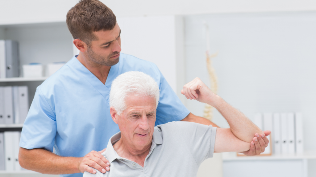 manipulative therapy on male patient